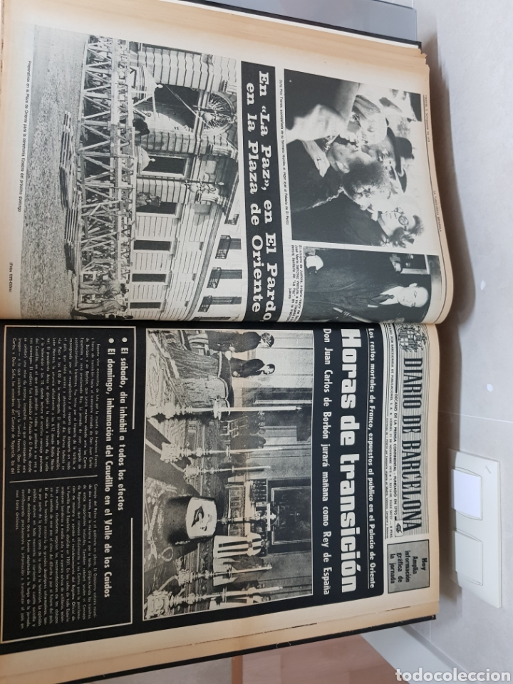 Coleccionismo Periódico La Vanguardia: Vol. ENCUADERNADO ENFERMEDAD Y MUERTE DE FRANCO 46X33cm - Foto 21 - 126014304