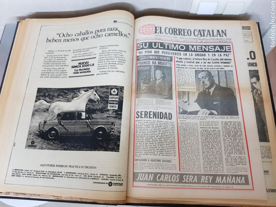 Coleccionismo Periódico La Vanguardia: Vol. ENCUADERNADO ENFERMEDAD Y MUERTE DE FRANCO 46X33cm - Foto 24 - 126014304