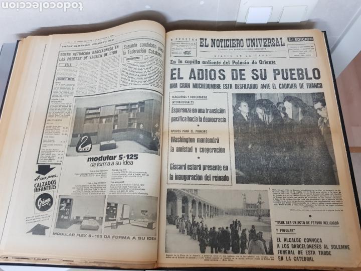 Coleccionismo Periódico La Vanguardia: Vol. ENCUADERNADO ENFERMEDAD Y MUERTE DE FRANCO 46X33cm - Foto 26 - 126014304
