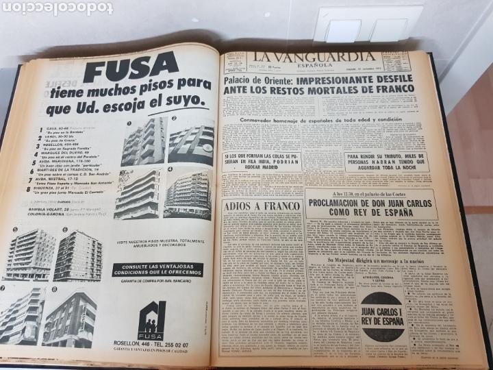 Coleccionismo Periódico La Vanguardia: Vol. ENCUADERNADO ENFERMEDAD Y MUERTE DE FRANCO 46X33cm - Foto 32 - 126014304