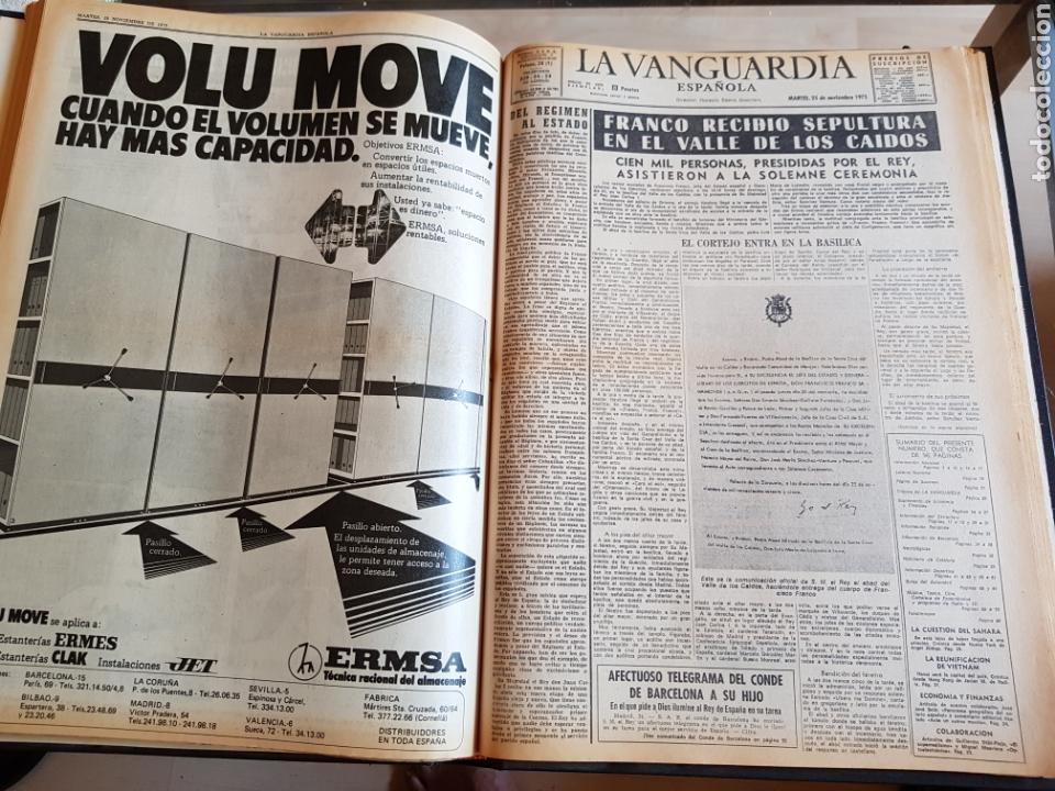 Coleccionismo Periódico La Vanguardia: Vol. ENCUADERNADO ENFERMEDAD Y MUERTE DE FRANCO 46X33cm - Foto 40 - 126014304