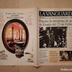 Coleccionismo Periódico La Vanguardia: REEDICION AÑO 1998 - LA VANGUARDIA - ARCHIVO - 1981 GOLPE DE ESTADO 23 DE FEBRERO. Lote 128752011