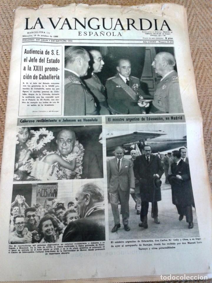 LA VANGUARDIA 19 OCTUBRE DE 1966 (Coleccionismo - Revistas y Periódicos Modernos (a partir de 1.940) - Periódico La Vanguardia)