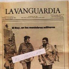 Coleccionismo Periódico La Vanguardia: LA VANGUARDIA Nº 36.407 - SABADO 7 DE MAYO 1983 - EL REY , EN MANIOBRAS MILITARES -. Lote 134878738