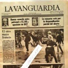 Coleccionismo Periódico La Vanguardia: LA VANGUARDIA Nº 36.426 - JUEVES 26 MAYO 1983 - EL OTRO MAYO FRANCES -. Lote 134878910