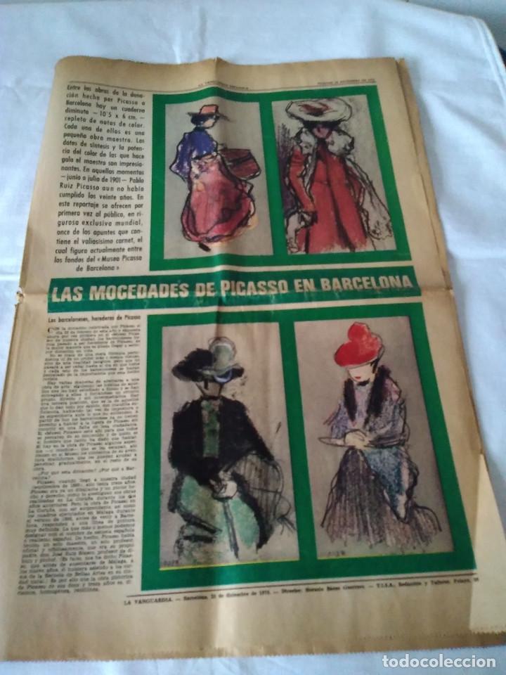 130-RECORTE CENTRAL PRENSA LA VANGUARDIA ,25 DICIEMBRE DE 1970, LAS MOCEDADES DE PICASSO EN BARCELON (Coleccionismo - Revistas y Periódicos Modernos (a partir de 1.940) - Periódico La Vanguardia)