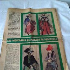 Coleccionismo Periódico La Vanguardia: 130-RECORTE CENTRAL PRENSA LA VANGUARDIA ,25 DICIEMBRE DE 1970, LAS MOCEDADES DE PICASSO EN BARCELON. Lote 138936722
