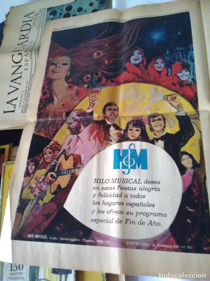Coleccionismo Periódico La Vanguardia: 130-RECORTE CENTRAL PRENSA LA VANGUARDIA ,25 diciembre de 1970, las mocedades de Picasso en Barcelon - Foto 2 - 138936722
