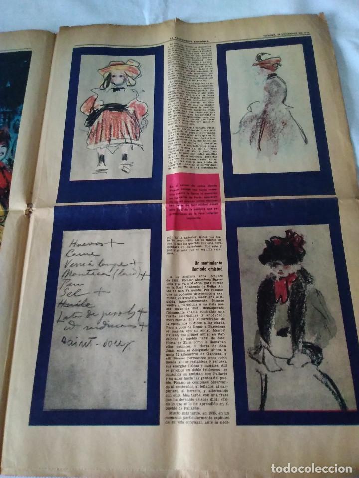 Coleccionismo Periódico La Vanguardia: 130-RECORTE CENTRAL PRENSA LA VANGUARDIA ,25 diciembre de 1970, las mocedades de Picasso en Barcelon - Foto 3 - 138936722