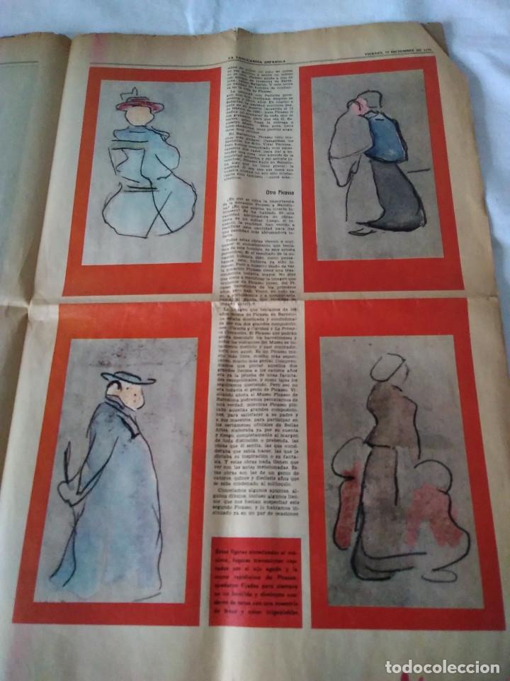 Coleccionismo Periódico La Vanguardia: 130-RECORTE CENTRAL PRENSA LA VANGUARDIA ,25 diciembre de 1970, las mocedades de Picasso en Barcelon - Foto 5 - 138936722