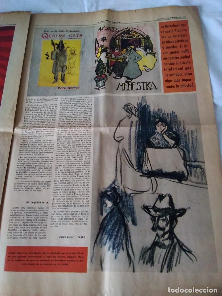 Coleccionismo Periódico La Vanguardia: 130-RECORTE CENTRAL PRENSA LA VANGUARDIA ,25 diciembre de 1970, las mocedades de Picasso en Barcelon - Foto 7 - 138936722