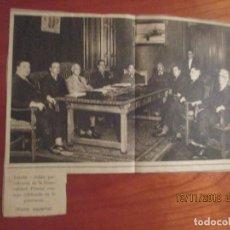 Coleccionismo Periódico La Vanguardia: LA VANGUARDIA, 1932 -FOTO DEL PRIMER CONSEJO DEL GOBIERNO CELEBRADO EN LERIDA CON EL PRESIDENT MACIA. Lote 139975638