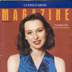 Coleccionismo Periódico La Vanguardia: ARIADNA GIL ENTREVISTA 7 PAGINAS 5 FOTOS - CAPDEVILA PINTOR REPORTAJE 4 PAGINAS 12 FOTOS AÑO 1993. Lote 142630218
