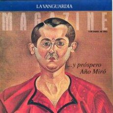Coleccionismo Periódico La Vanguardia: AÑO MIRO EXTENSO REPORTAJE 14 PAGINAS 15 FOTOS - BORIS BECKER ENTRVISTA 4 PAG. 2 FOTOS AÑO 1993. Lote 142630914