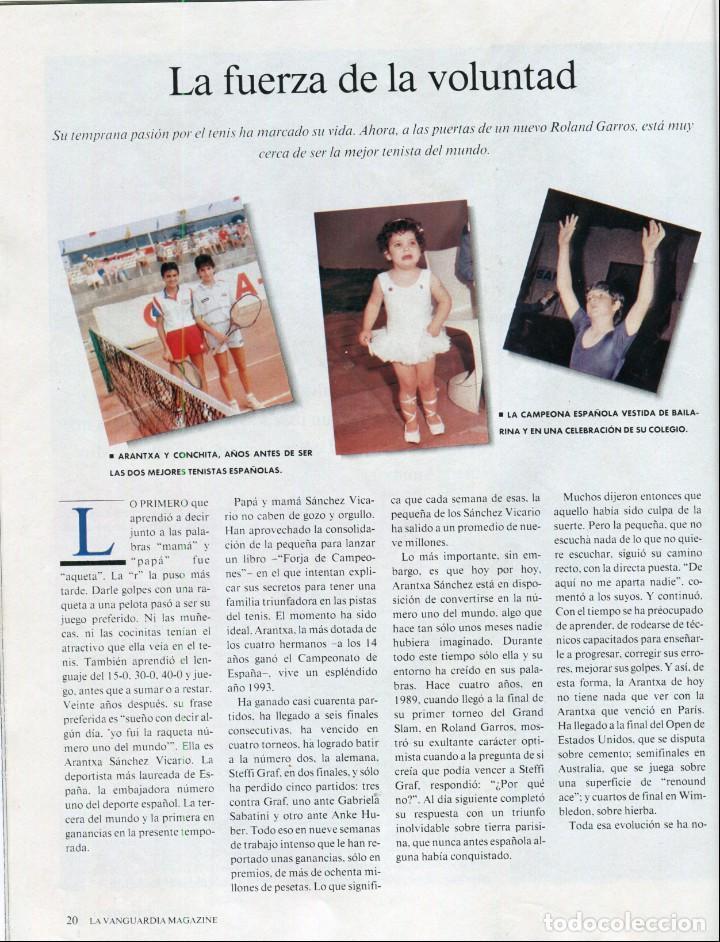 Coleccionismo Periódico La Vanguardia: ARANCHA SANCHEZ VICARIO ENTREVISTA/REPORTAJE 6 PAGINAS 8 FOTOS - PILAR MIRÓ 7 PAG.3 FOTOS AÑO 1993 - Foto 2 - 142736382