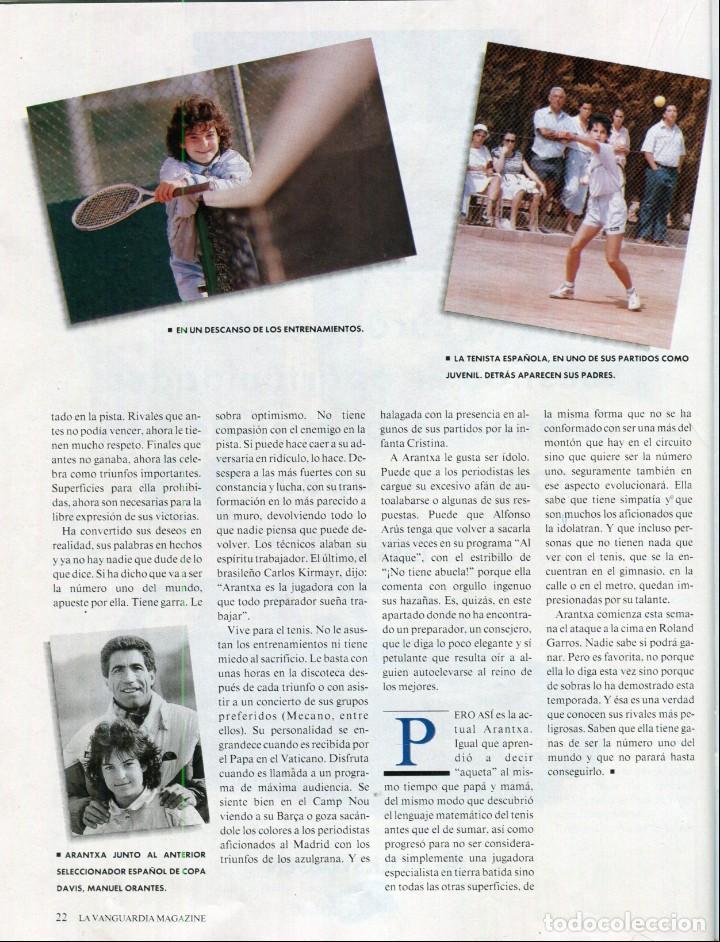 Coleccionismo Periódico La Vanguardia: ARANCHA SANCHEZ VICARIO ENTREVISTA/REPORTAJE 6 PAGINAS 8 FOTOS - PILAR MIRÓ 7 PAG.3 FOTOS AÑO 1993 - Foto 3 - 142736382