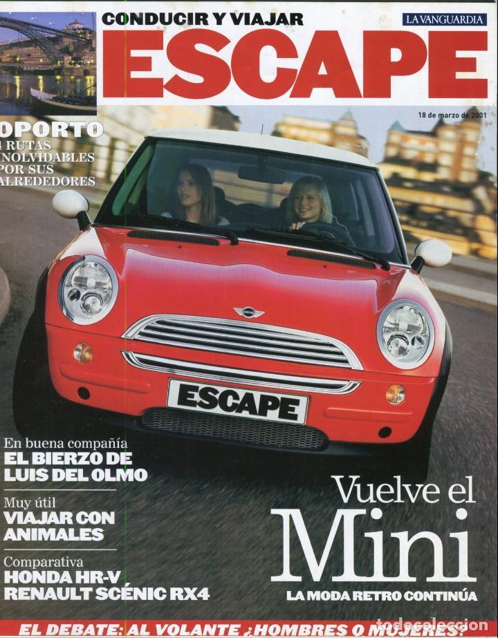 CONDUCIR Y VIAJAR REVISTA ESCAPE MARZO 2001-MINI MODA RETRO - VER SUMARIO COMPLETO EN FOTO ADICIONAL (Coleccionismo - Revistas y Periódicos Modernos (a partir de 1.940) - Periódico La Vanguardia)