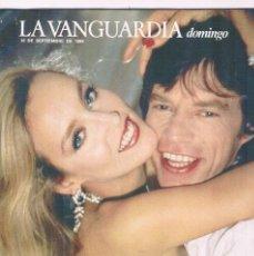 Coleccionismo Periódico La Vanguardia: REVISTA LA VANGUARDIA SEPTIEMBRE 1989 ROLLING STONES. Lote 148958438