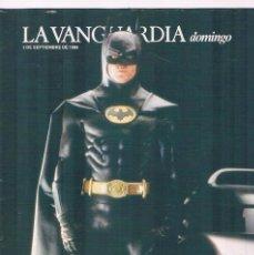Coleccionismo Periódico La Vanguardia: REVISTA LA VANGUARDIA SEPTIEMBRE 1989 BATMAN. Lote 148958566