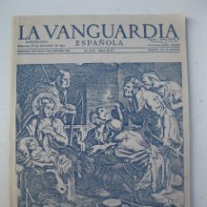 Coleccionismo Periódico La Vanguardia: LA VANGUARDIA ESPAÑOLA - LIBRITO NAVIDEÑO - EL REPARTIDOR LES DESEA FELIZ NAVIDAD - AÑO 1957.. Lote 151224354