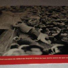 Coleccionismo Periódico La Vanguardia: FOTOS QUE HACEN HISTORIA - EL MUNDO ENTRE DOS GUERRAS 1945-1991ESPECTADORES DE LA FINAL EUROPEA. Lote 151452594
