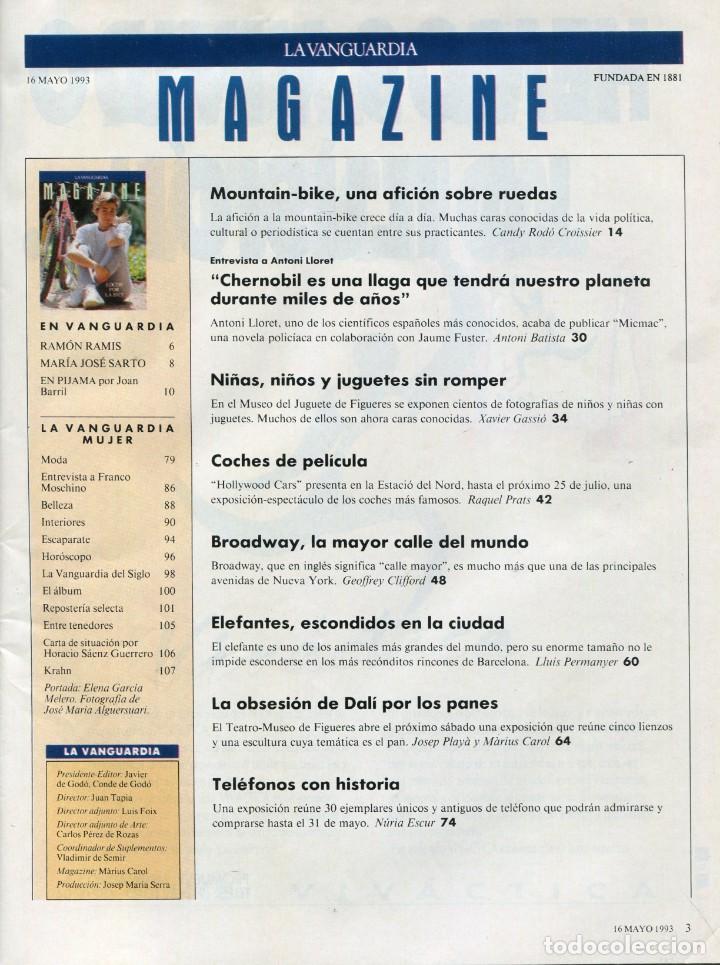 Coleccionismo Periódico La Vanguardia: MAGAZINE- DALÍ LA OBSESION POR LOS PANES 8 PAGINAS 9 FOTOS (TRES DE DALÍ)-VER SUMARIO-MAYO 1993 - Foto 2 - 151974870