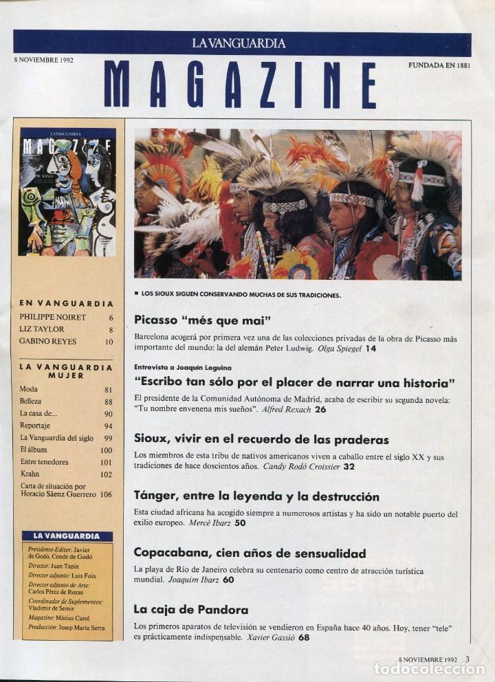 Coleccionismo Periódico La Vanguardia: MAGAZINE- PICASSO MES QUE MAI 9 PAGINAS 9 FOTOS- LA CAJA DE PANDORA -VER SUMARIO-NOVIEMBRE 1992 - Foto 2 - 151976322