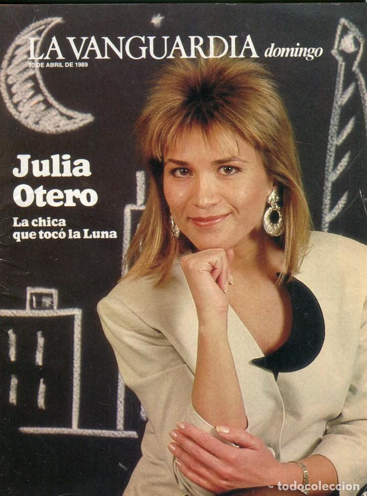 DOMINGO -JULIA OTERO 12 PAINAS 6 FOTOS - COLECCIONISMO TRENES DE JUGUETE8 PAGINAS 6 FOTOS - AÑO 1989 (Coleccionismo - Revistas y Periódicos Modernos (a partir de 1.940) - Periódico La Vanguardia)