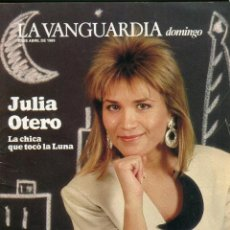 Colecionismo Jornal La Vanguardia: DOMINGO -JULIA OTERO 12 PAINAS 6 FOTOS - COLECCIONISMO TRENES DE JUGUETE8 PAGINAS 6 FOTOS - AÑO 1989. Lote 152469478