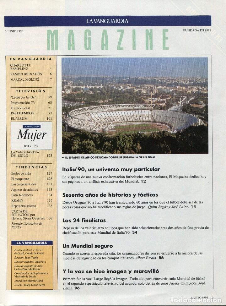 Coleccionismo Periódico La Vanguardia: MAGAZINE -FUTBOL ITALIA'90 35 PAGINAS MAS DE 90 FOTOS DE EQUIPOS, JUGADORES...EXCELENTE -AÑO 1990 - Foto 2 - 152479846