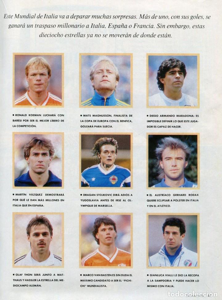 Coleccionismo Periódico La Vanguardia: MAGAZINE -FUTBOL ITALIA'90 35 PAGINAS MAS DE 90 FOTOS DE EQUIPOS, JUGADORES...EXCELENTE -AÑO 1990 - Foto 3 - 152479846