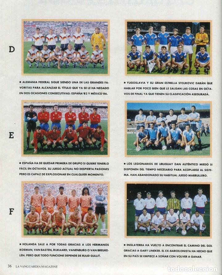 Coleccionismo Periódico La Vanguardia: MAGAZINE -FUTBOL ITALIA'90 35 PAGINAS MAS DE 90 FOTOS DE EQUIPOS, JUGADORES...EXCELENTE -AÑO 1990 - Foto 4 - 152479846