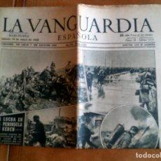 Coleccionismo Periódico La Vanguardia: LA VANGUARDIA SABADO 16 DE MAYO DE 1942 N,23.621 PORTADA TROPAS ALEMANAS Y RUMANAS. Lote 153307930