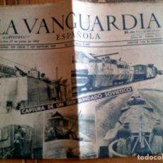 Coleccionismo Periódico La Vanguardia: DIARIO LA VANGUARDIA MIERCOLES 17 DE JUNIO DE 1942 PORTADA CAPTURA. Lote 153308354