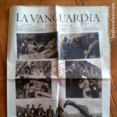 Coleccionismo Periódico La Vanguardia: DIARIO LA VANGUARDIA DOMINGO 21DE ENERO DE 1940 PORTADA NOTAS DE GUERRA. Lote 153308594