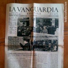 Coleccionismo Periódico La Vanguardia: DIARIO LA VANGUARDIA JUEVES 7 DE MAYO DE 1942 NUMERO 23.613 PORTADA. Lote 153309042