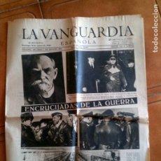 Coleccionismo Periódico La Vanguardia: DIARIO DE LA VANGUARDIA DOMINGO 10 DE MARZO DE 1940 N,22.924 ,PORTADA. Lote 153314370