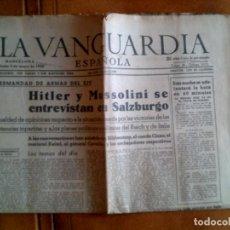 Coleccionismo Periódico La Vanguardia: DIARIO DE LA VANGUARDIA N,23,609 SABADO 2 DE MAYO DE 1942 PORTADA. Lote 153315094