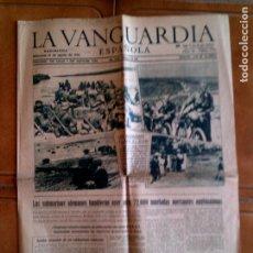Coleccionismo Periódico La Vanguardia: DIARIO LA VANGUARDIA N,23.702 MIERCOLES 19 DE AGOSTO DE 1942 PORTADA. Lote 153315670