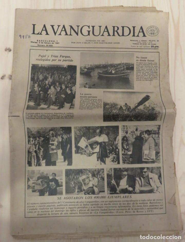 LA VANGUARDIA 3 DE FEBRERO DE 1981 (Coleccionismo - Revistas y Periódicos Modernos (a partir de 1.940) - Periódico La Vanguardia)