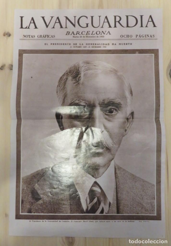 LAMINA REPRODUCCION PORTADA LA VANGUARDIA 26 DICIEMBRE 1933 (Coleccionismo - Revistas y Periódicos Modernos (a partir de 1.940) - Periódico La Vanguardia)