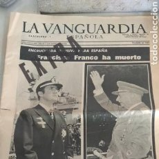Coleccionismo Periódico La Vanguardia: LA VANGUARDIA FRANCO HA MUERTO, EXTRA 20 DE NOVIEMBRE 1975. Lote 158089801