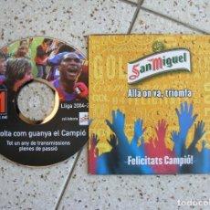 Coleccionismo Periódico La Vanguardia: CD DE LA VANGUARDIA ESCOLTA COM GUANYA EL CAMPIO LIGA 2004,2005. Lote 166411990