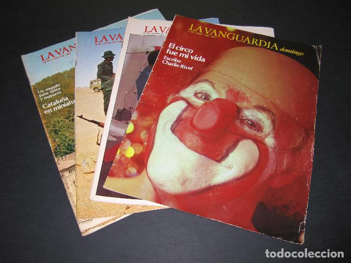 LOTE DE 4 REVISTAS - LA VANGUARDIA DOMINGO - JUNIO 1983 (Coleccionismo - Revistas y Periódicos Modernos (a partir de 1.940) - Periódico La Vanguardia)