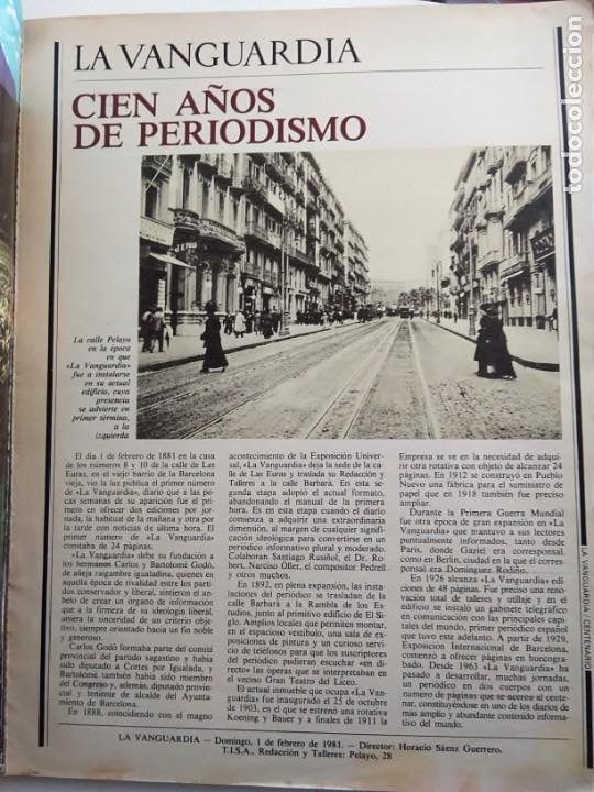 Coleccionismo Periódico La Vanguardia: LA VANGUARDIA. CENTENARIO. - Foto 3 - 167961412