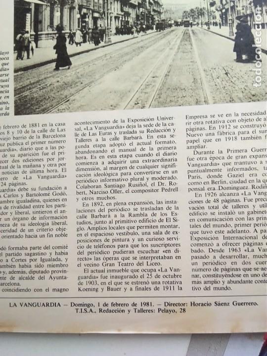 Coleccionismo Periódico La Vanguardia: LA VANGUARDIA. CENTENARIO. - Foto 6 - 167961412
