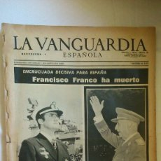Collectionnisme Journal La Vanguardia: PERIODICO LA VANGUARDIA. Lote 175531952