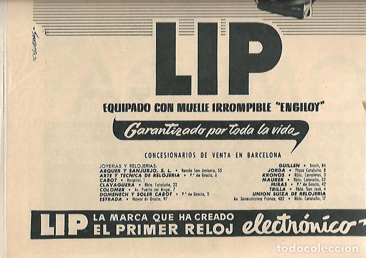Coleccionismo Periódico La Vanguardia: AÑO 1954 PUBLICIDAD RELOJ LIP OMEGA CRONO PREMIO MOTOCICLISMO MONTJUIC PERFUMES JUPER CREMA MANOS - Foto 4 - 9333588