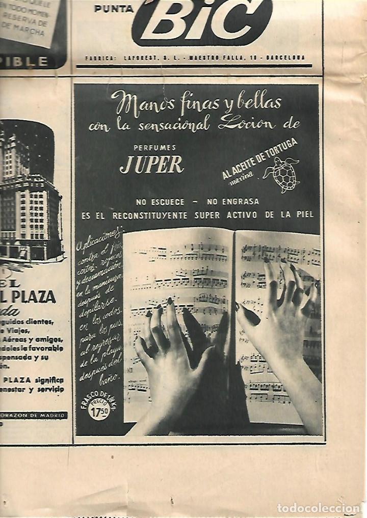 Coleccionismo Periódico La Vanguardia: AÑO 1954 PUBLICIDAD RELOJ LIP OMEGA CRONO PREMIO MOTOCICLISMO MONTJUIC PERFUMES JUPER CREMA MANOS - Foto 5 - 9333588