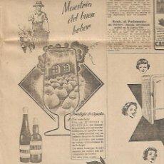 Colecionismo Jornal La Vanguardia: AÑO 1958 CARMEN POLO DE FRANCO VISITA MONTSERRAT LICEO CARLISMO PUBLICIDAD VINO MORILES O MONTILLA. Lote 9358779